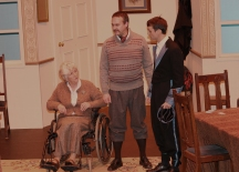 Mrs. Bramson, Dan and Hubert, played by Tom Delahunty